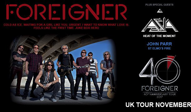 Foreigner's 40th Anniversary Tour Ft. John Parr